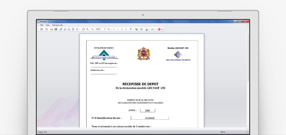 SALAIRES DES GRATUIT TÉLÉCHARGER DE BORDEREAU DECLARATION CNSS